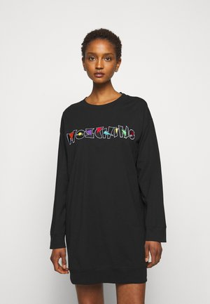 DRESS - Žerzejové šaty - black