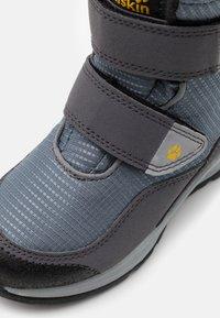 Jack Wolfskin - POLAR BEAR TEXAPORE HIGH UNISEX - Winter boots - pebble grey/burly yellow - 5