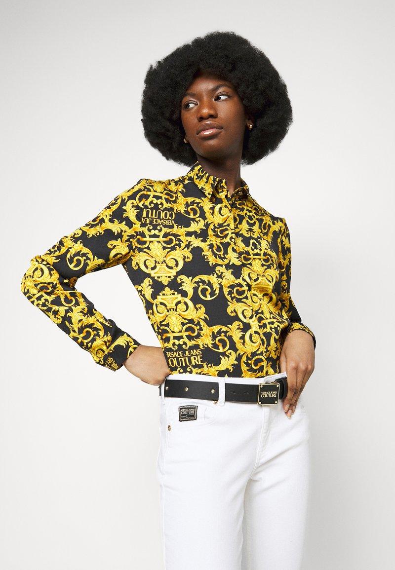 Versace Jeans Couture - PLAQUE BUCKLE - Belte - nero