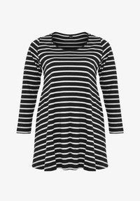Yoek - Long sleeved top - black / off white - 0