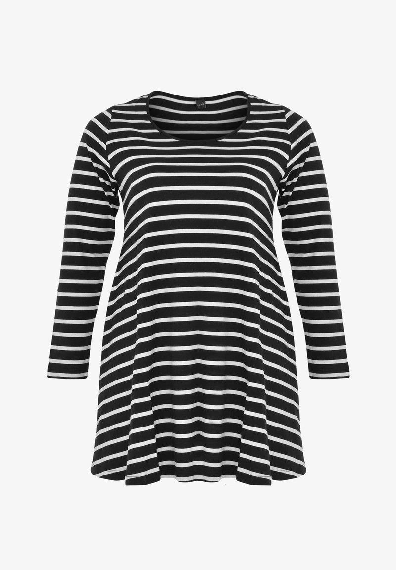 Yoek - Long sleeved top - black / off white