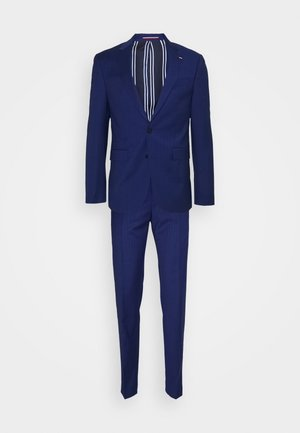 FLEX STRIPE SLIM FIT SUIT - Traje - blue