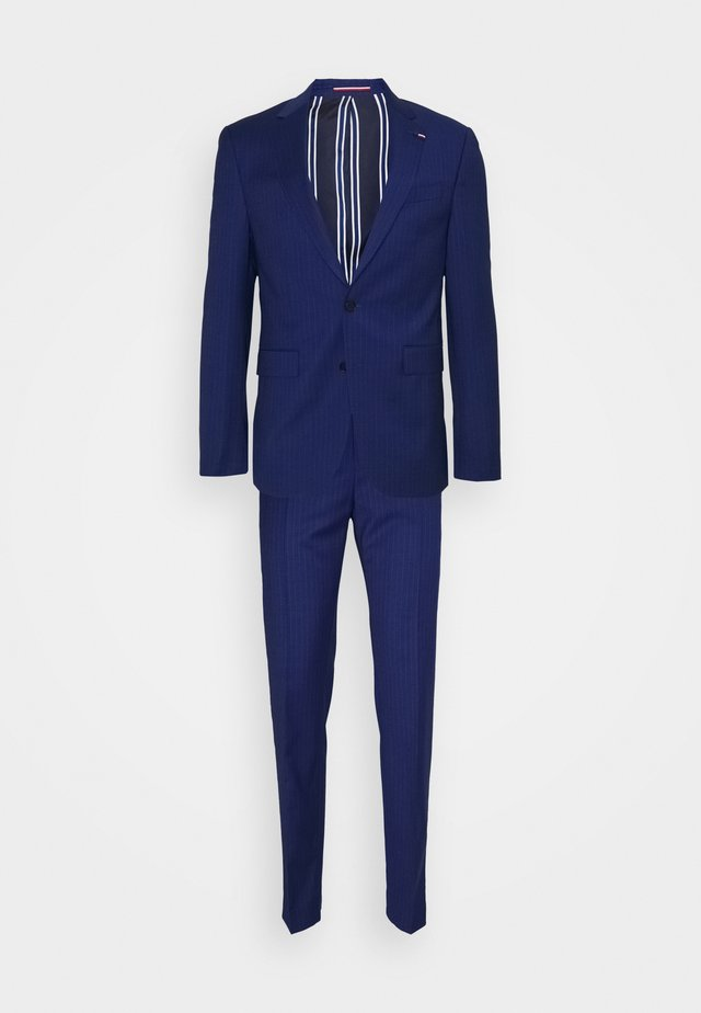 FLEX STRIPE SLIM FIT SUIT - Completo - blue