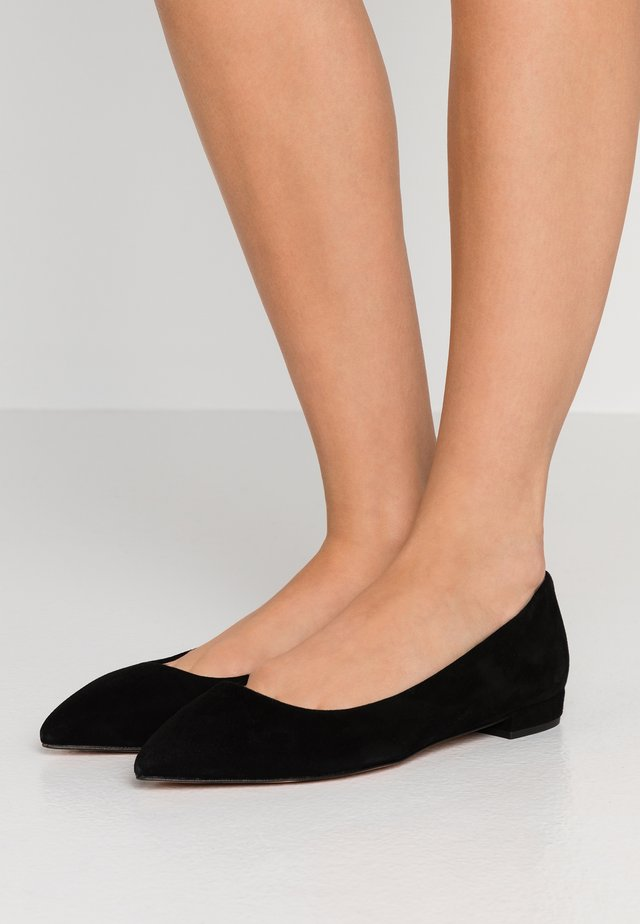 POINTY TOE FLAT - Ballet pumps - black