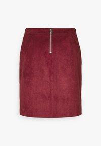 Vero Moda Tall - VMDONNA DINA SHORT SKIRT - Mini skirt - cabernet - 1