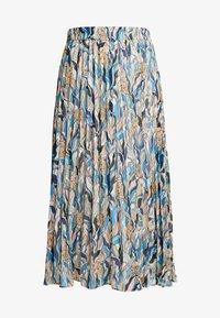 LAURA PLISSÉ SKIRT - Plisovaná sukně - beige/tornpaper