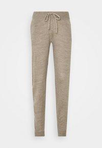 ONLY - ONLAUBREE LOOSE PANTS  - Verryttelyhousut - camel melange - 4