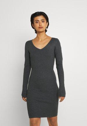 VIPILLA V-NECK DRESS - Jumper dress - mottled dark green