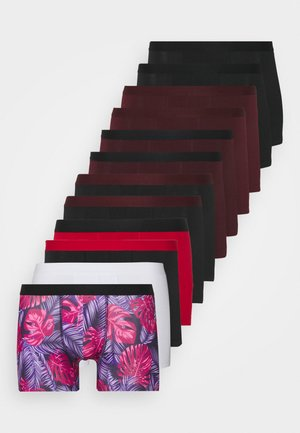 12 PACK - Pants - bordeaux/red/black