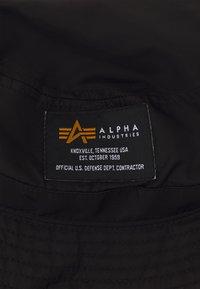 Alpha Industries - CREW BUCKET HAT UNISEX - Hatt - black - 2