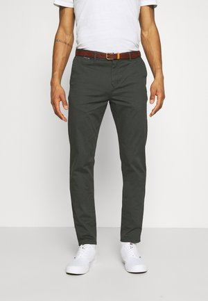 NEW BELTED  - Chino - charcoal
