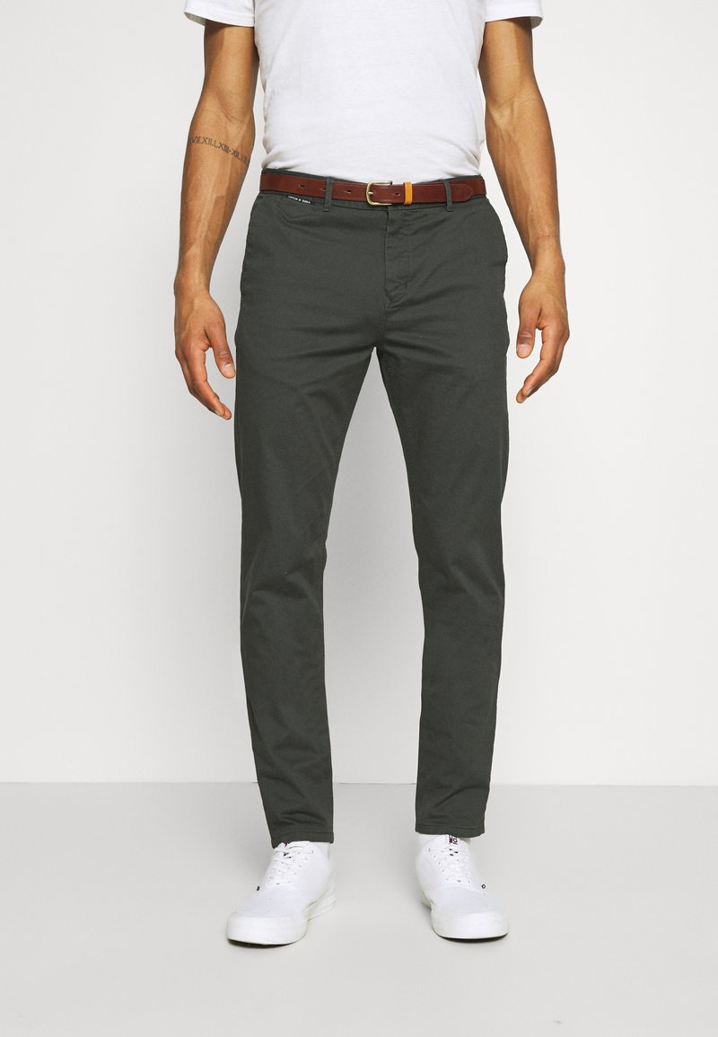Scotch & Soda - NEW BELTED  - Chinos - charcoal