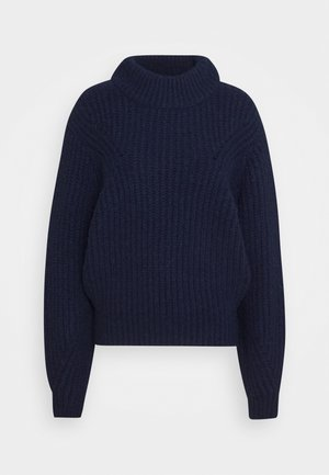 BULKY CREW - Pullover - navy