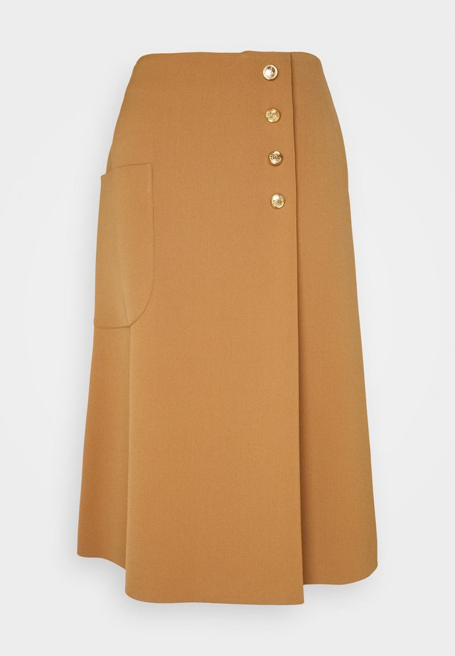 HETTY SKIRT - Falda de tubo - dark beige