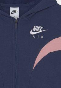 Nike Sportswear - AIR  - Sudadera con cremallera - midnight navy/pink glaze/white - 2