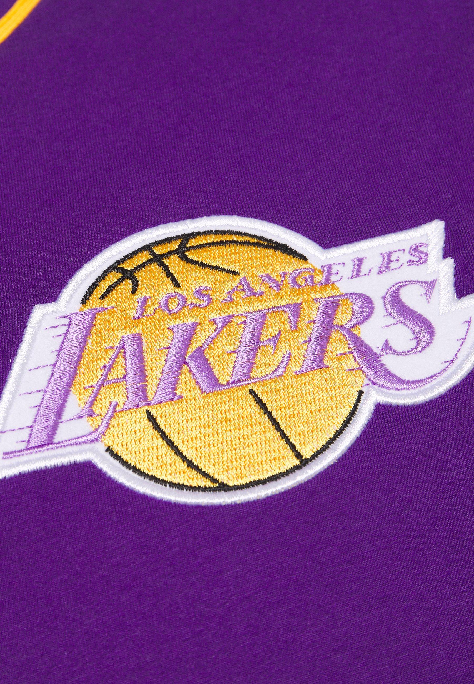 2020 Unisex Miesten vaatteet Sarja dfKJIUp97454sfGHYHD Mitchell & Ness NBA LOS ANGELES LAKERS BUTTON FRONT Pelipaita purple