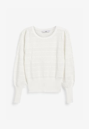 DETAIL - Pullover - white