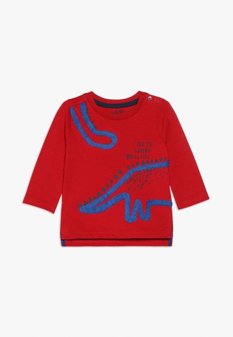 mothercare - BABY DINOSAUR TEE  - Longsleeve - red