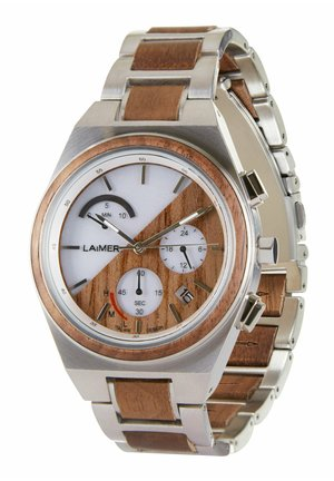 SOLARUHR HOLZUHR MILO SOLAR - Chronograph watch - silver/brown