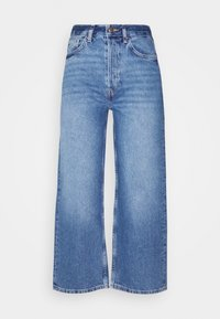 Wide leg cropped jeans - Džíny Straight Fit - blue denim