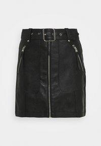 HARDWEAR ZIP BIKER SKIRT - Mini skirt - black