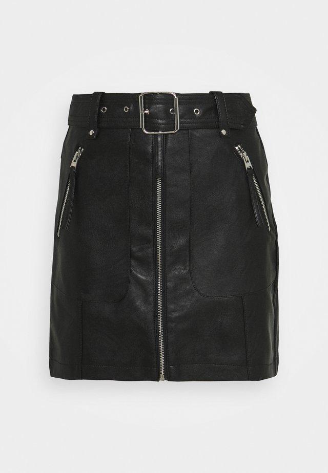 HARDWEAR ZIP BIKER SKIRT - Minijupe - black