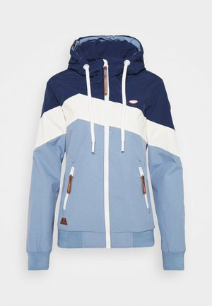 NUGGIE BLOCK - Summer jacket - dusty blue