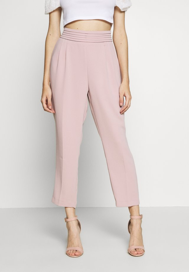 DRAPE PANT - Trousers - blush