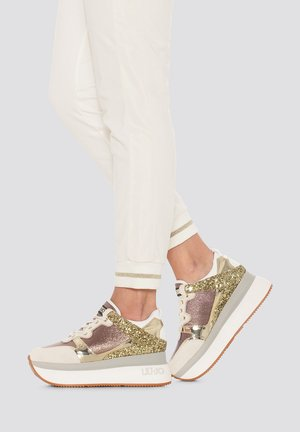 WITH GLITTER - Trainers - pink/gold
