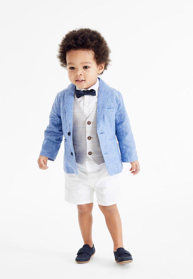 Next - SET - Suit - light blue white beige