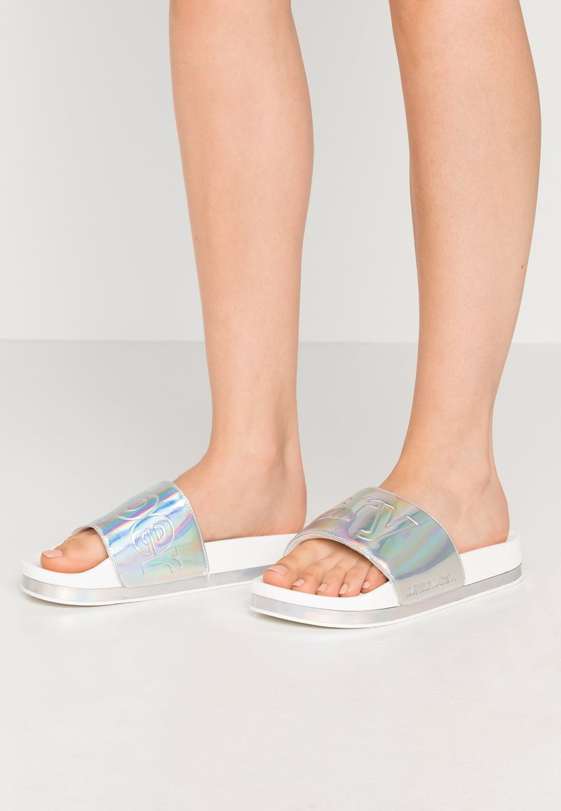 Superdry - ARIZONA FLATFORM SLIDE - Mules - white