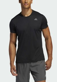 adidas Performance - RESPONSE AEROREADY RUNNING SHORT SLEEVE TEE - T-shirt imprimé - black - 3