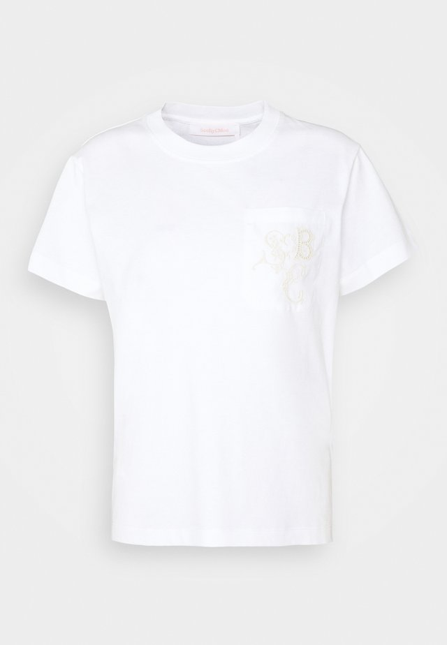 T-shirt imprimé - white powder
