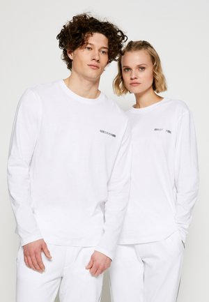 DEROL METALLIC UNISEX - Long sleeved top - white/silver