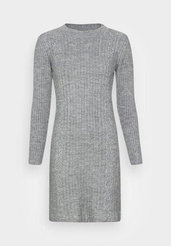 Jumper dress - mottled light grey