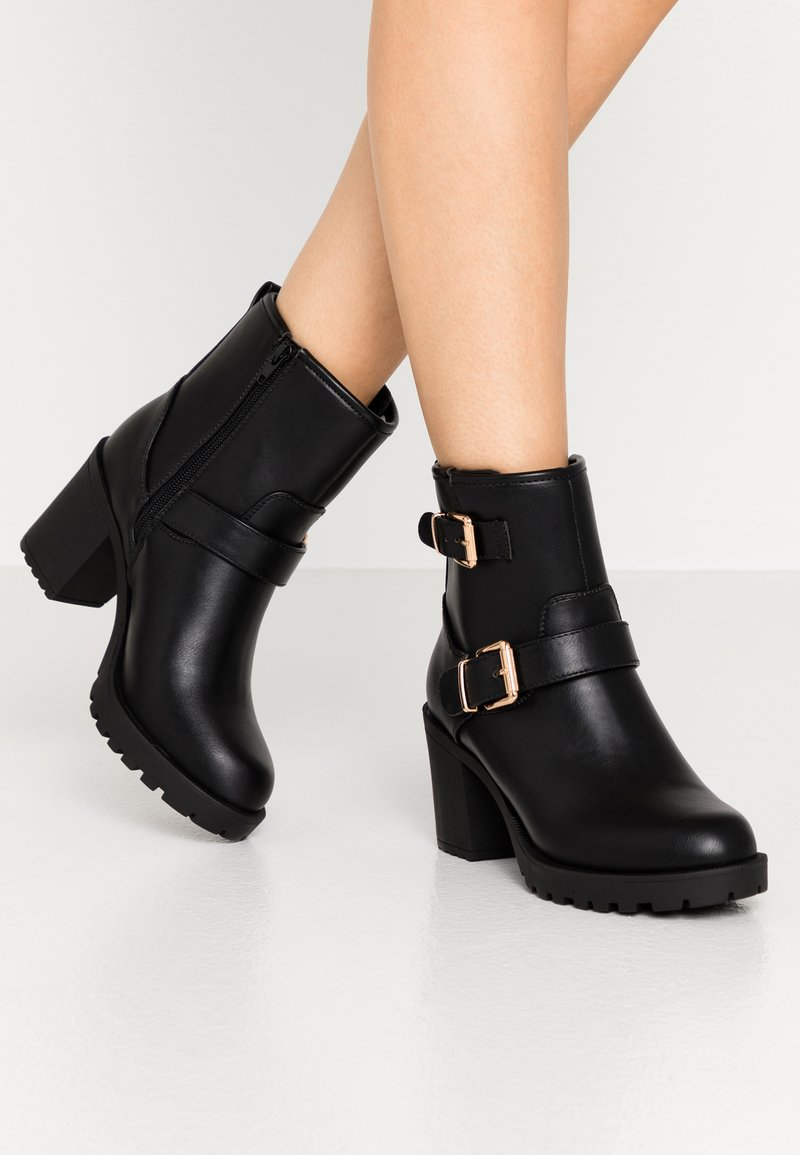 Anna Field Wide Fit - Platform ankle boots - black