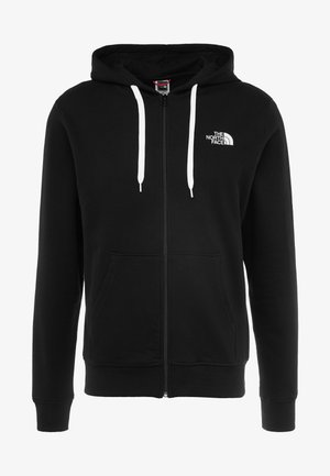 OPEN GATE - Zip-up hoodie - black/white