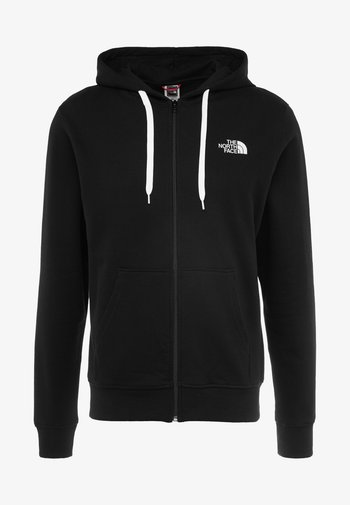 OPEN GATE - Zip-up sweatshirt - black/white