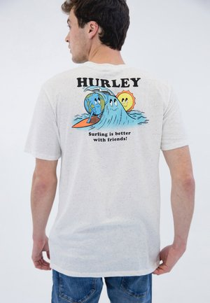 EARTH AND SURFS  - Print T-shirt - white