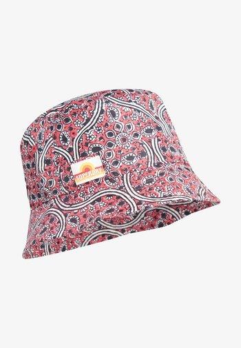 Hat - paisley block print red
