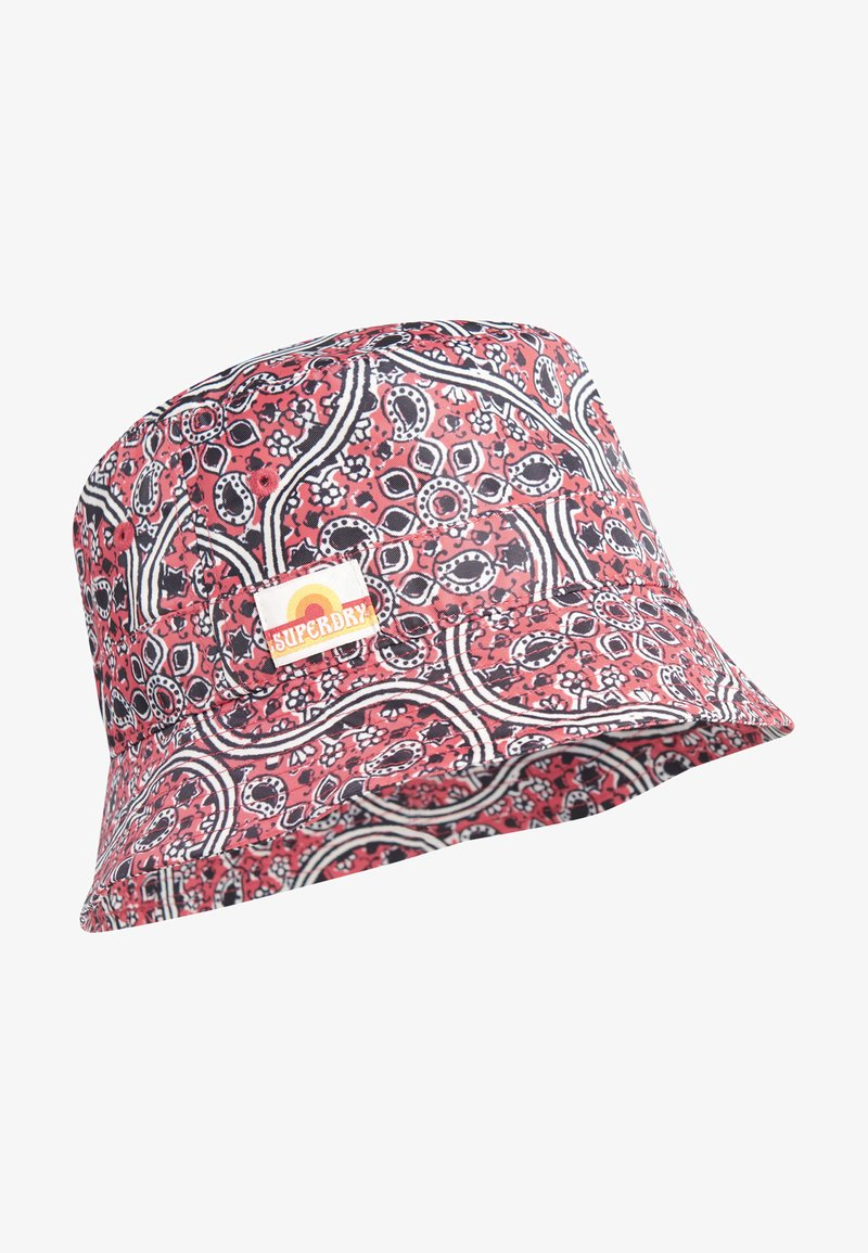 Superdry - Hat - paisley block print red
