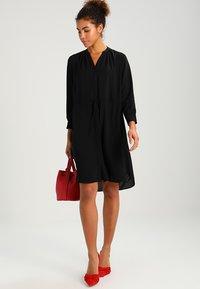 Selected Femme - SFDAMINA 7/8 DRESS - Shirt dress - black - 2