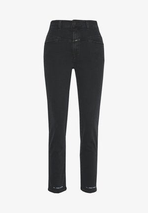 PEDAL PUSHER HIGH WAIST CROPPED LENGTH - Relaxed fit jeans - black