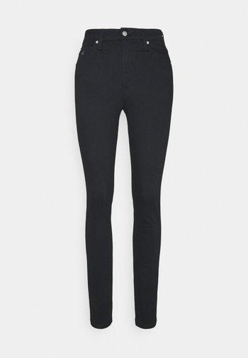 HIGH RISE SKINNY - Skinny džíny - black denim
