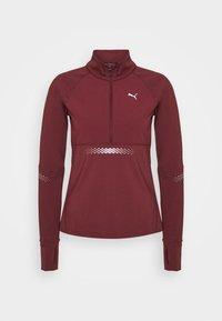 RUNNER ZIP - Sports shirt - burgundy
