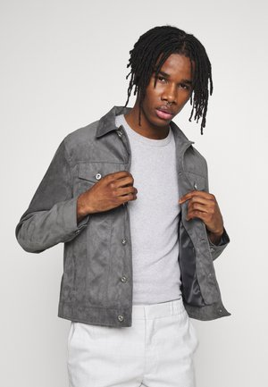 TRUCKER JACKET - Faux leather jacket - grey