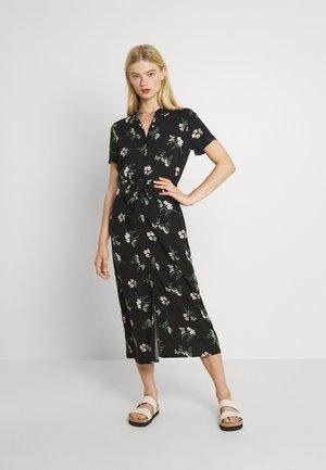 VMSIMPLY EASY LONG SHIRT - Skjortklänning - black