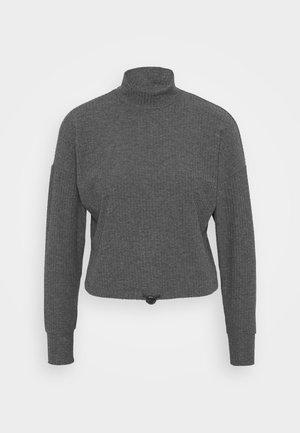 ONLNELLA PULLSTRING CREWNECK - Strikkegenser - dark grey