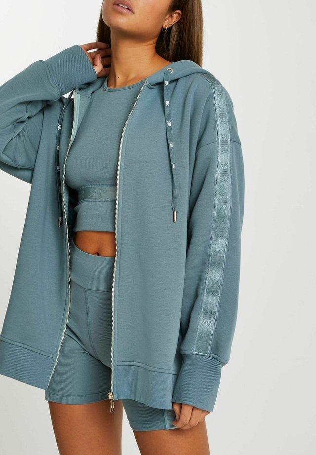 veste en sweat zippée - teal