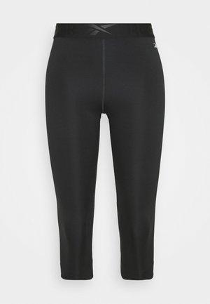 CAPRI - 3/4 sports trousers - night black